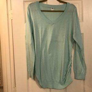 Maternity Light Blue Sweater. Large.